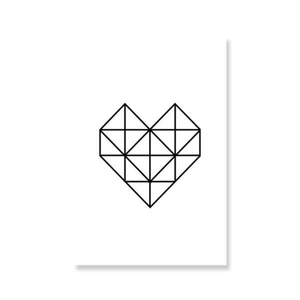 Plakat na ścianę Geometric Love