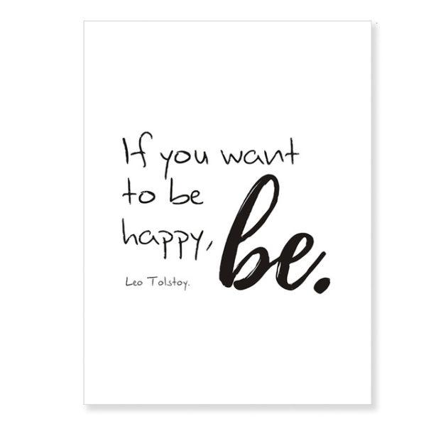 Plakat na ścianę Be happy
