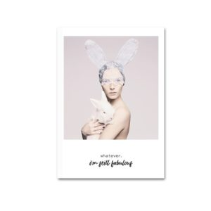Plakat na ścianę Woman & Rabbit