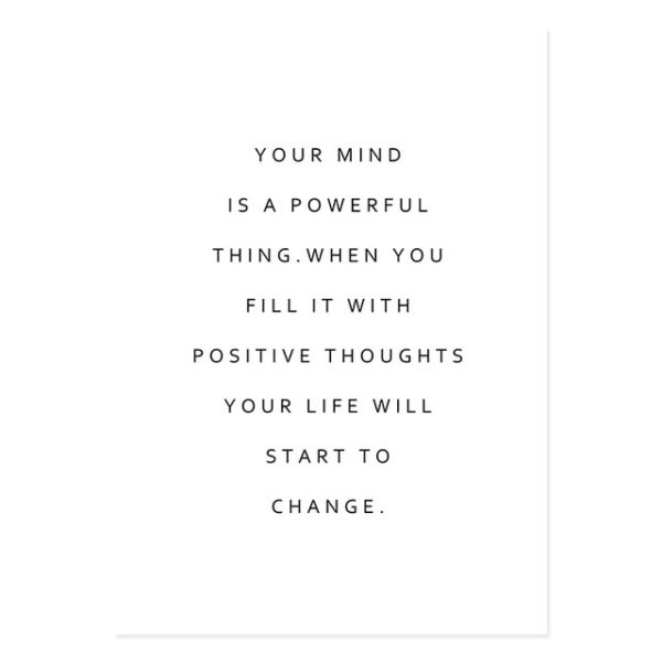 Plakat z napisem Positive Thoughts
