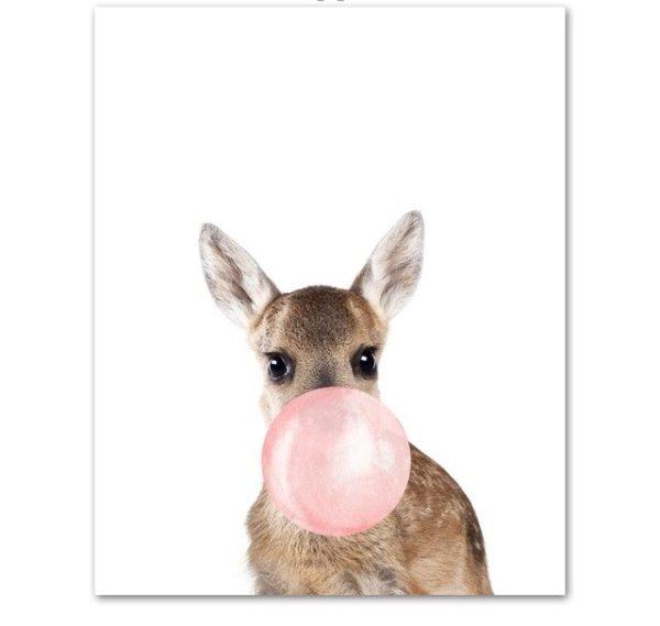 Plakat dla dzieci Sarenka z gumą balonową