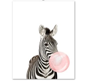 Plakat dla dzieci Zebra z gumą balonową