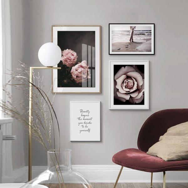 Plakat na ścianę peony composition