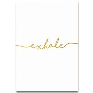 Plakat na ścianę Exhale
