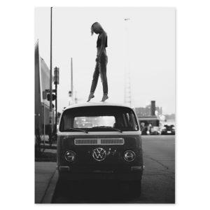 Plakat na ścianę Woman&VW
