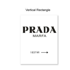 Plakat na ścianę Prada Vertical Rectangle