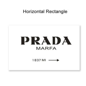 Plakat na ścianę Prada Horizontal Rectangle