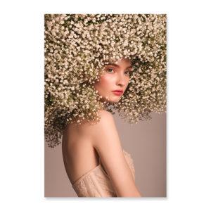 Plakat na ścianę floral hair