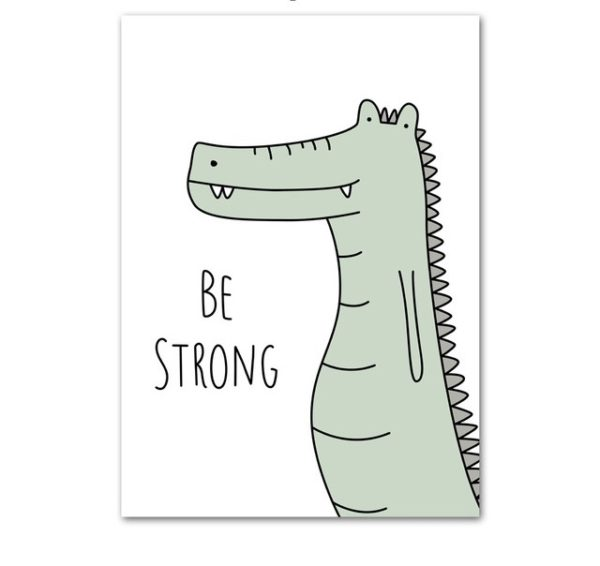 Plakat dla dzieci Be Strong