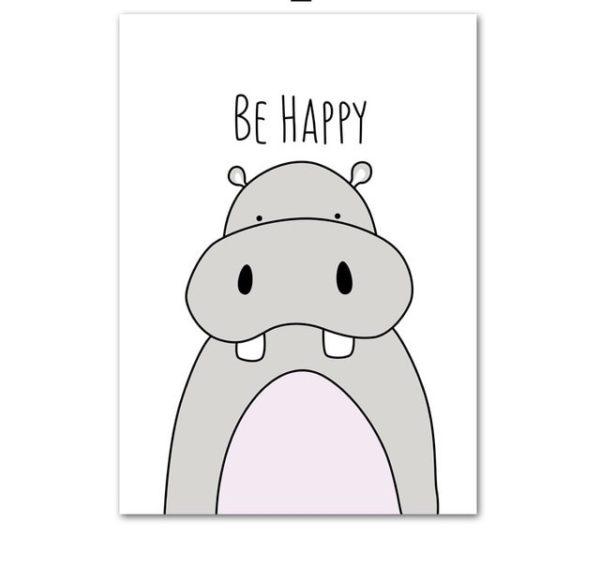 Plakat dla dzieci Be Happy