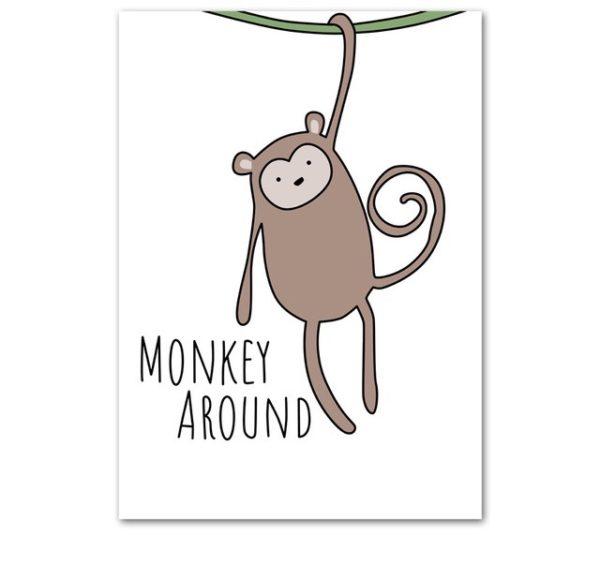 Plakat dla dzieci Monkey Around