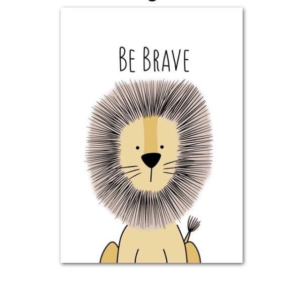 Plakat dla dzieci Be Brave