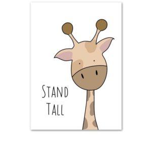 Plakat dla dzieci Stand Tall